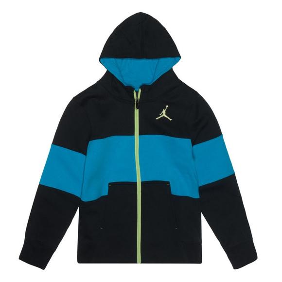 e85b7b9bc7f579 Boys Nike Jordan Jumpman Fast Fleece Hoodie Jacket
